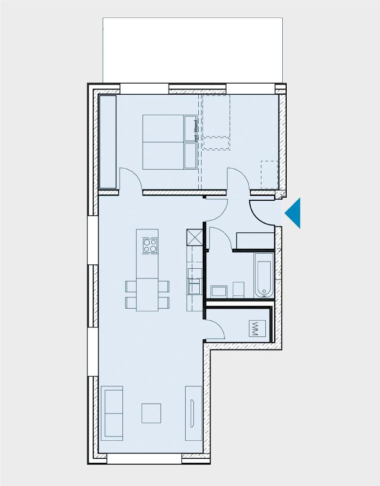 Grundriss Wohnung 007-B2-Süd