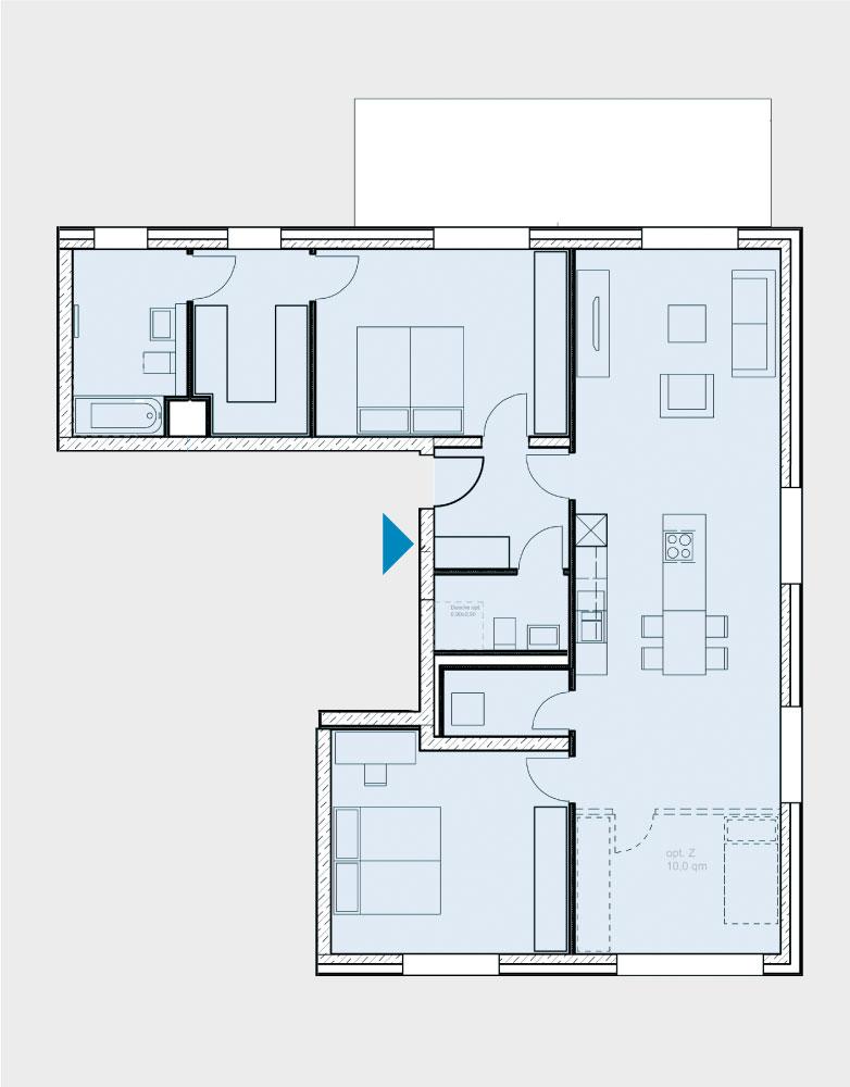 Grundriss Wohnung 017-B2-Ost