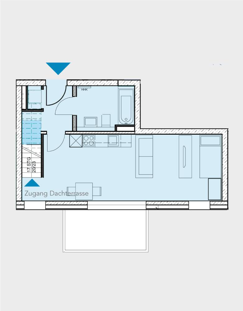 Grundriss Wohnung 051-B2-Nord
