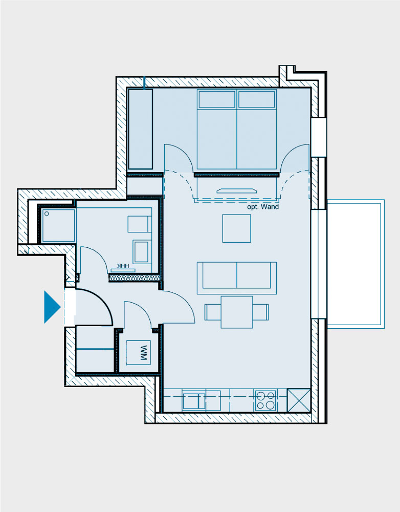 Grundriss Wohnung 064-B2-West