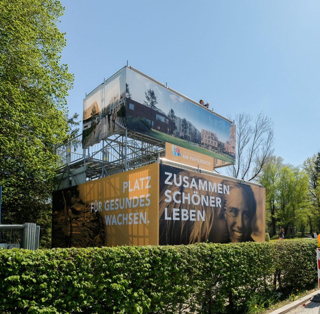 Aussichtsturm Urbanes Leben am Papierbach