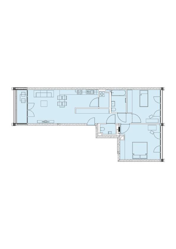 A1N - Whg. 23 - 3 Zimmer