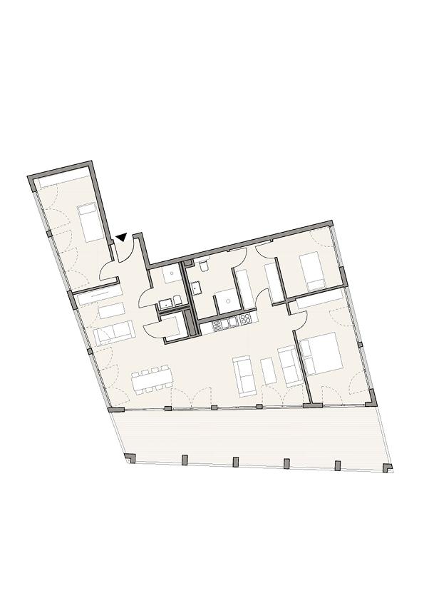 A1S - Whg. 3 - 3 Zimmer