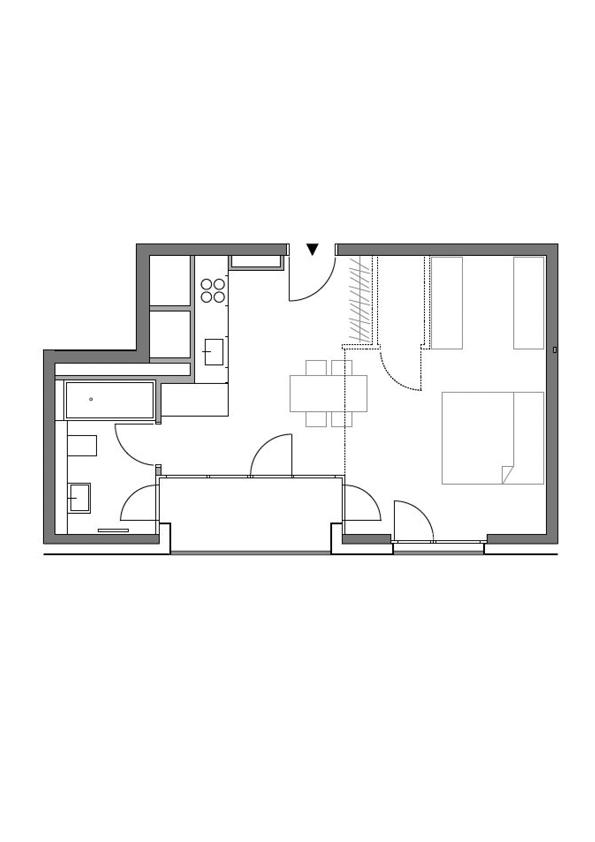 A2 - Whg. 53 - 1 Zimmer