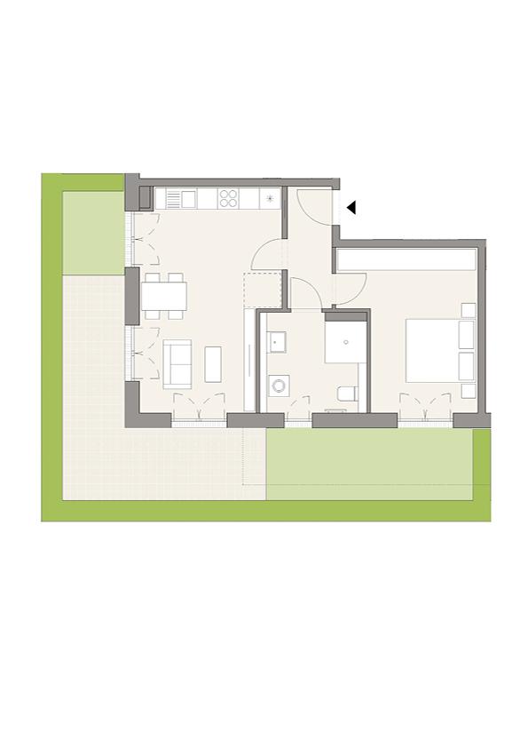 A3 - Whg. 3 - 2 Zimmer