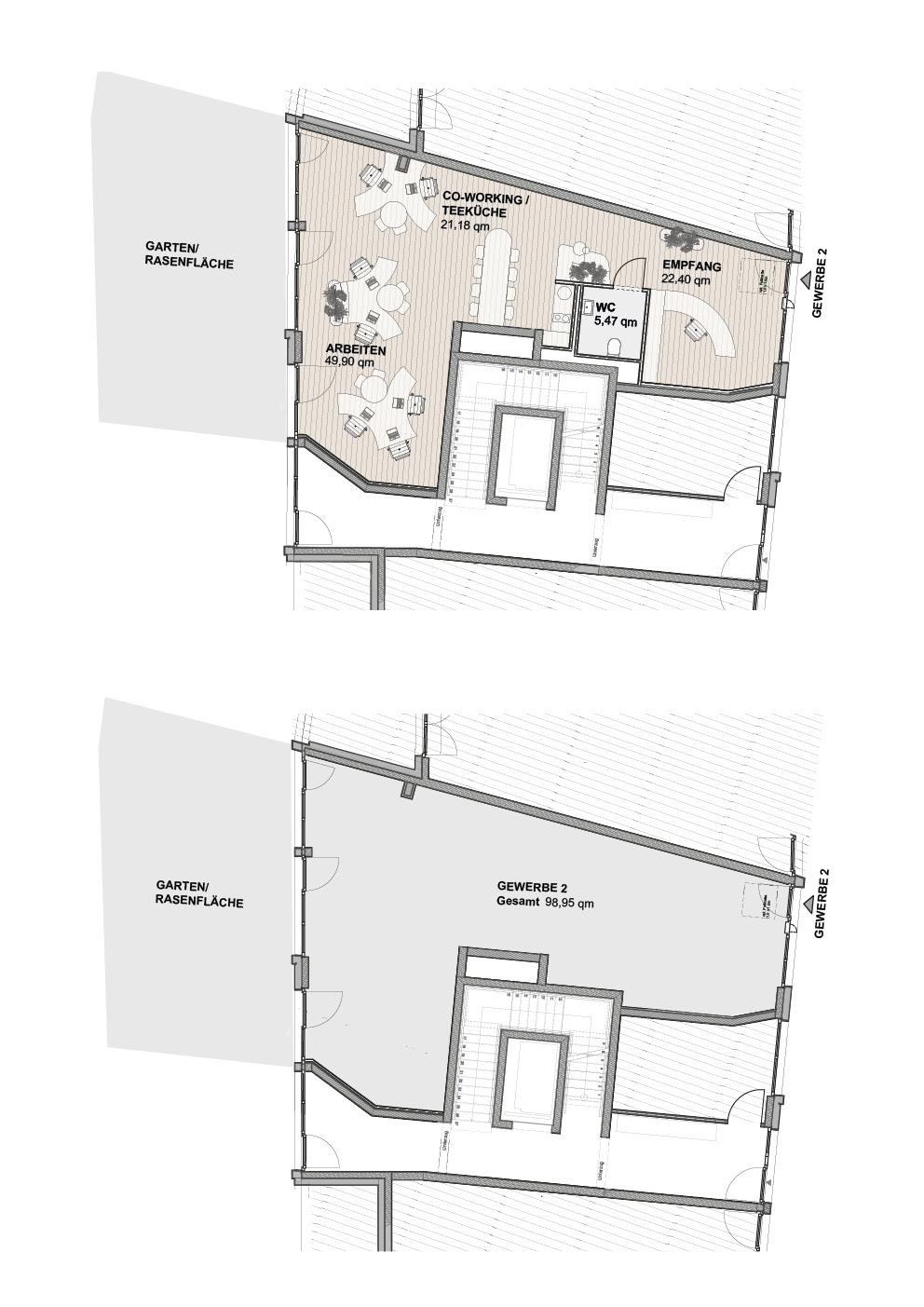 A1 Süd - Einheit 2 - 98,95m² - EG