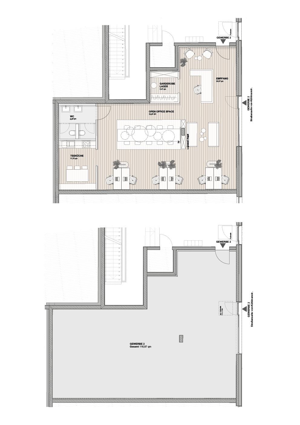 B2 - Einheit 2 - 116,87 m² - EG