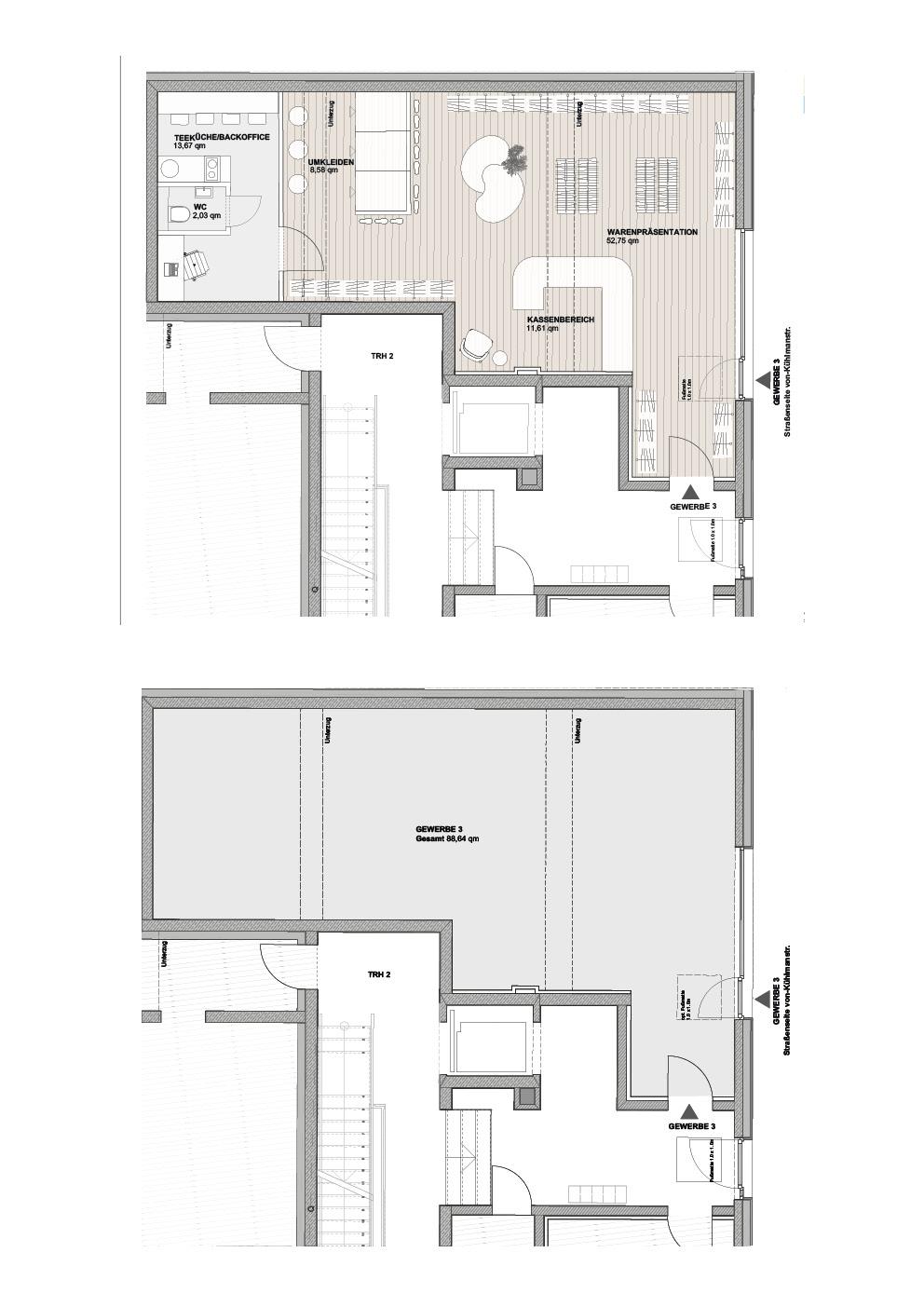 B2 - Einheit 3 -  88,64 m² - EG